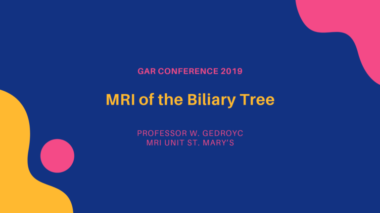 MRI of the Biliary Tree