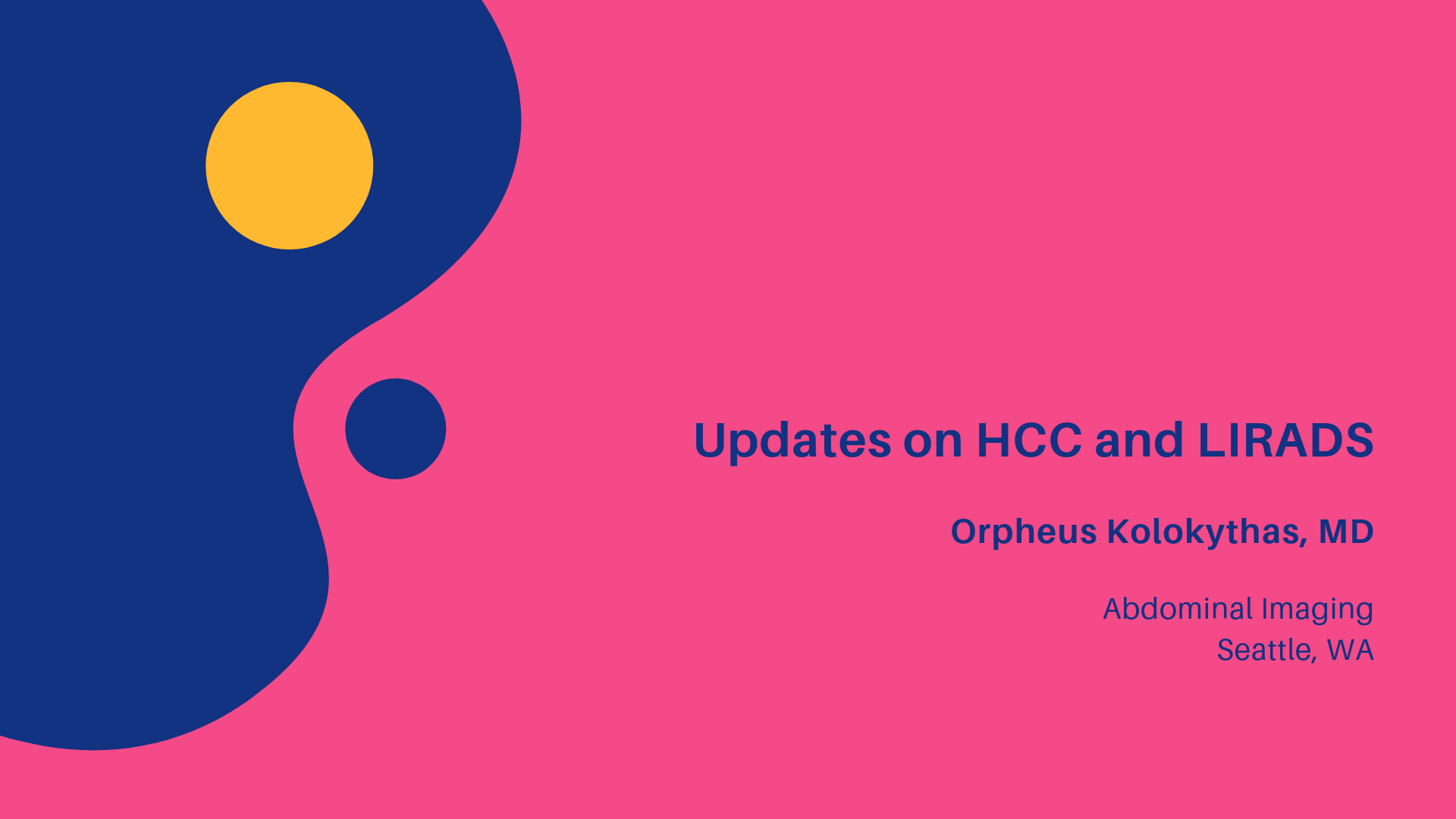 HCC Updates and LIRADS