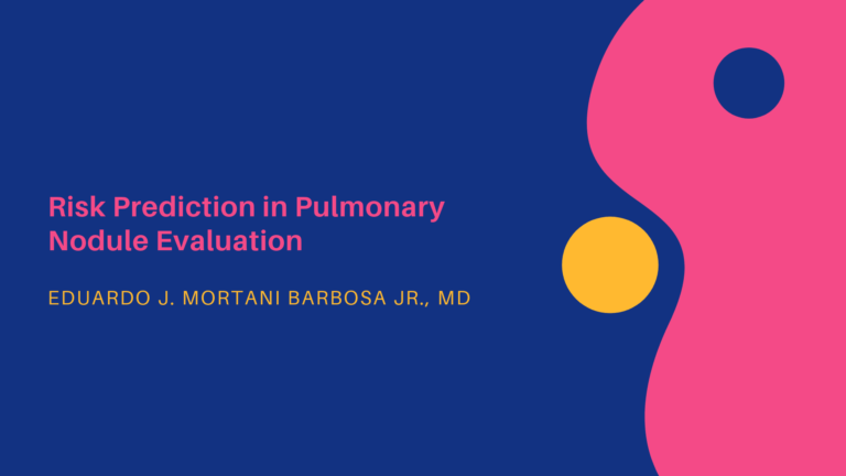 Risk Prediction in Pulmonary Nodule Evaluation
